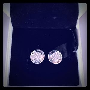 Pandora earrings new in box silver
